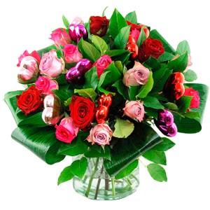 Moederdag boeket mix rozen bestellen of bezorgen online