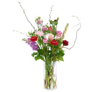 Plukboeket roze/rood bestellen of bezorgen online