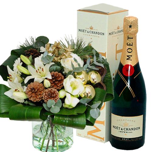 Plus Boeket kerst champagne bestellen of bezorgen online