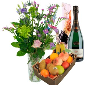 Plus Boeket veuve de vernay en fruit bestellen of bezorgen online