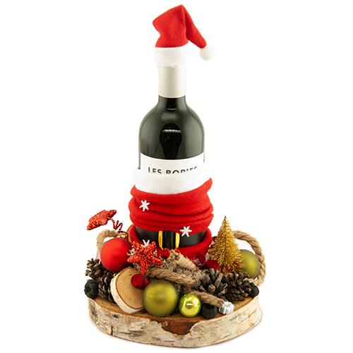 Rode of witte wijn met kerst decoratie bestellen of bezorgen online