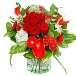 Rood boeket met tintje wit bestellen of bezorgen online