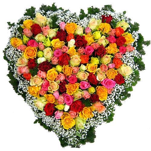 Rouwarrangement hart vorm bestellen of bezorgen online