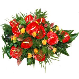Rouwarrangement rode Anthurium bestellen of bezorgen online