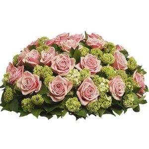 Rouwarrangement roze rozen bestellen of bezorgen online
