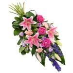 Rouwboeket roze lila paars bestellen of bezorgen online