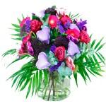 Valentijn boeket lila paars bestellen of bezorgen online