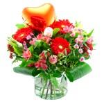 Valentijn boeket met hart bestellen of bezorgen online