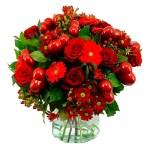 Valentijn boeket met rode hartjes bestellen of bezorgen online