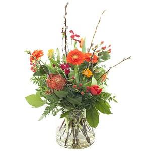 Voorjaarsboeket oranje bestellen of bezorgen online