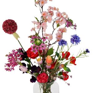 Zijdebloemen v/h seizoen bestellen in melkbus vaas bestellen of bezorgen