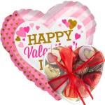 happy valentine's day pink/gold met valentijn bonbons bestellen of bezorgen online