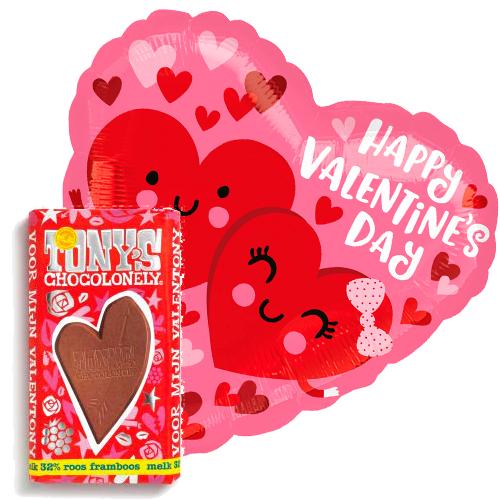 valentijn love hearts ballon met valentijn tony's bestellen of bezorgen online