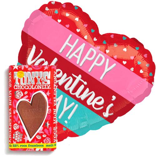 valentijn stripes ballon met valentijn tony's bestellen of bezorgen online