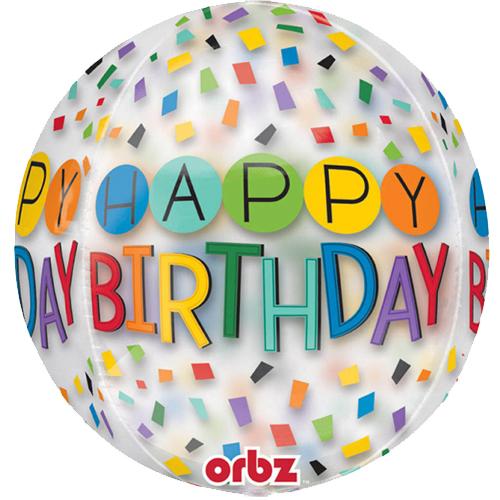 Happy Birthday transparant heliumballon bestellen of bezorgen online