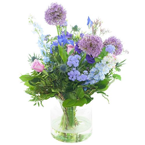 Zomers veldboeket blauw paars bestellen of bezorgen online