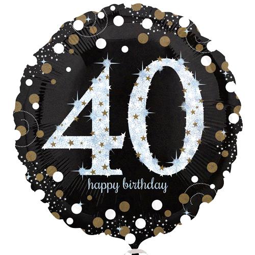 40ste verjaardag ballon bestellen of bezorgen online