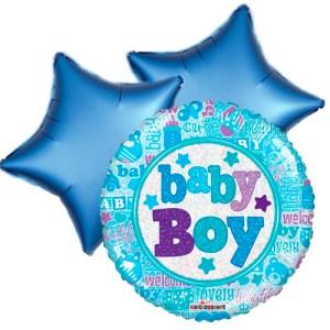 Ballonboeket little baby boy bestellen of bezorgen online