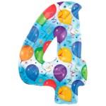 Nummer 4 (balloons) -50% bestellen of bezorgen online