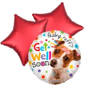 Ballonboeket Get well soon! (Doggy) bestellen of bezorgen online