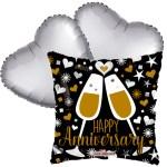 Ballonboeket Happy anniversary! bestellen of bezorgen online