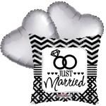 Ballonboeket Just married bestellen of bezorgen online