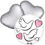 Ballonboeket love duifjes bestellen of bezorgen online