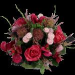 Zijdebloemen biedermeier roze cerise bestellen of bezorgen