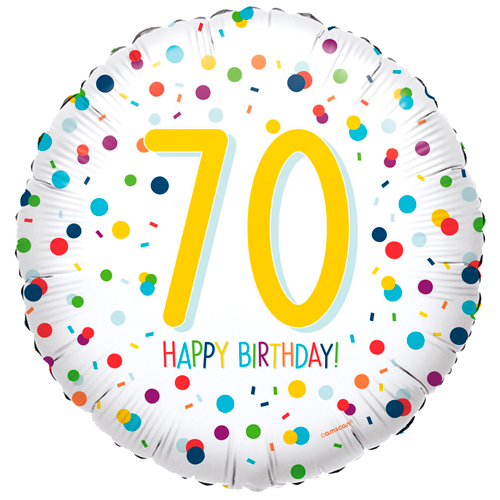 70ste verjaardag ballon confetti bestellen of bezorgen online