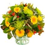 Najaarsboeket geel-groen bestellen of bezorgen online