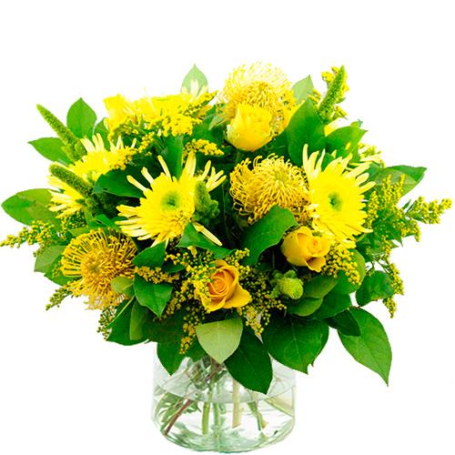 Najaarsboeket in gele tinten bestellen of bezorgen online