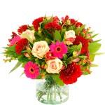 Najaarsboeket in roze-rood tinten bestellen of bezorgen online