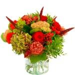 Najaarsboeket rood gemengd bestellen of bezorgen online