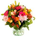 najaarsboeket oranje roze bestellen of bezorgen online
