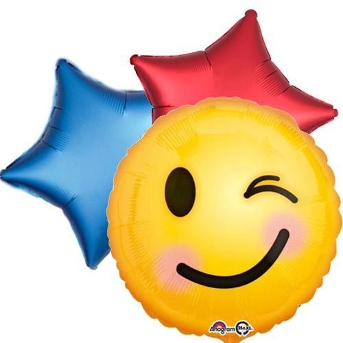 Ballonboeket smiley bestellen of bezorgen online