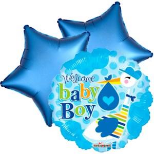 Ballonboeket stork boy bestellen of bezorgen online