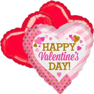 Ballonboeket valentine's day roze goud bestellen of bezorgen online