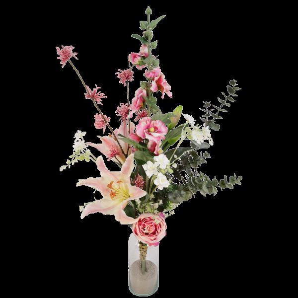 Kunstbloemen boeket roze bestellen of bezorgen