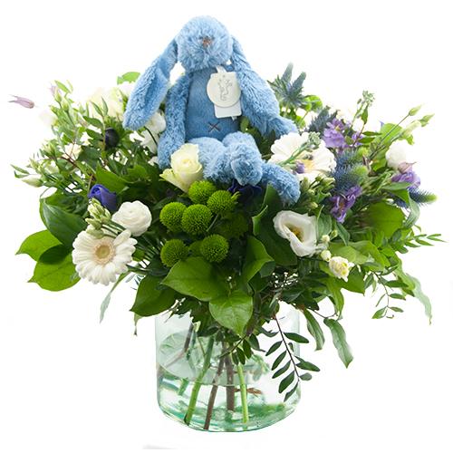 Geboorte boeket Richie blue bestellen of bezorgen online