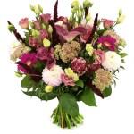 Herfstboeket roze donker roze bestellen of bezorgen