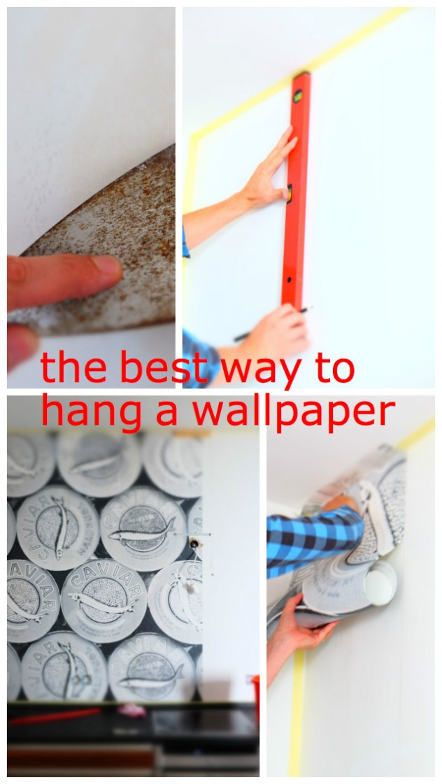 the best way to hang a wallpaper