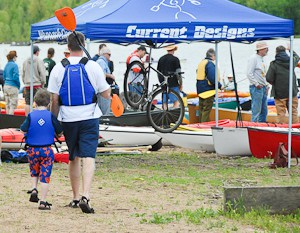 Father and Son at Alpine Shop You Can Paddle Day
