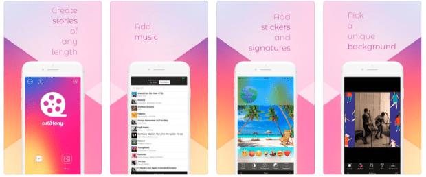 CutStory for Instagram Stories app for social media