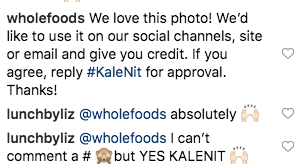 Whole Foods asks Instagram user for permission to share their content