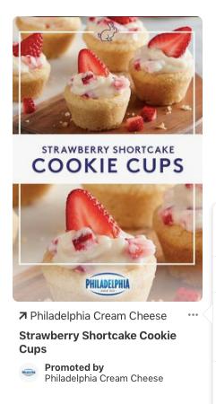 pinterest ad for Philadelphia Cream Cheese