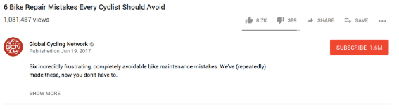 """youtube video description for """"6 Bike Repair Mistakes Every Cyclist Should Avoid"""""""