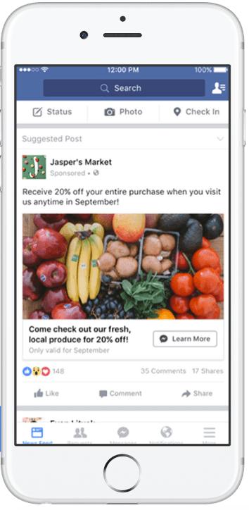 facebook advertising messenger