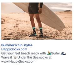 facebook ads Happy Socks