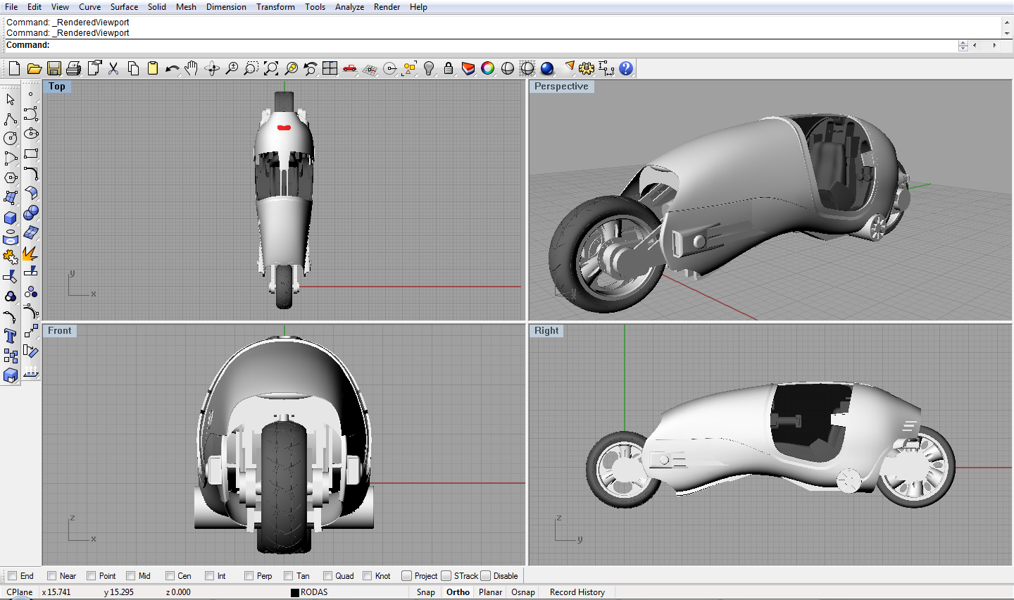 hight resolution of bike on rhino 3d by presabranca