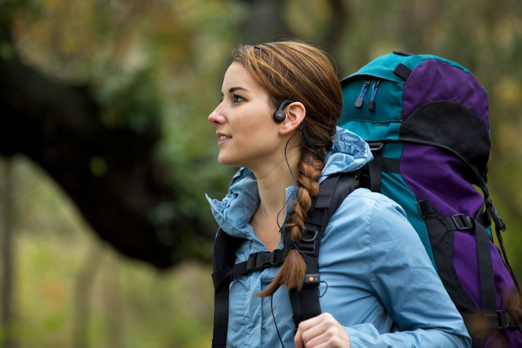 backpacking on trail